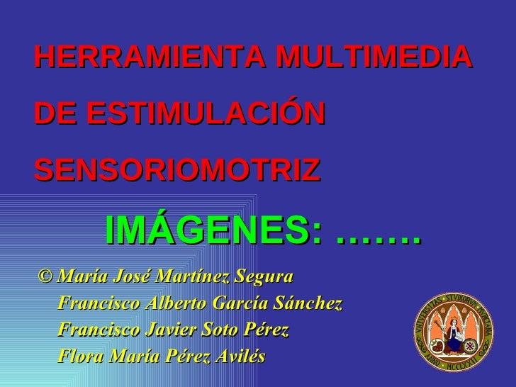 HERRAMIENTA MULTIMEDIA  DE ESTIMULACIÓN SENSORIOMOTRIZ <ul><li>© María José Martínez Segura </li></ul><ul><li>Francisco Al...