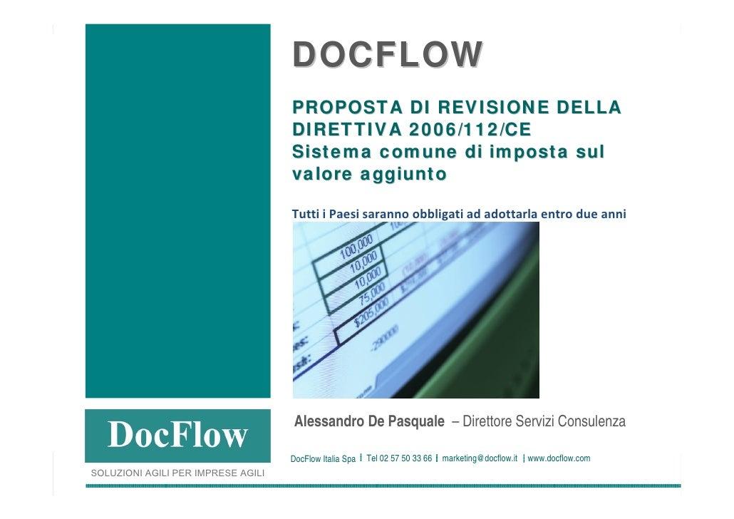 DOCFLOW                                                                      PROPOSTA DI REVISIONE DELLA                  ...