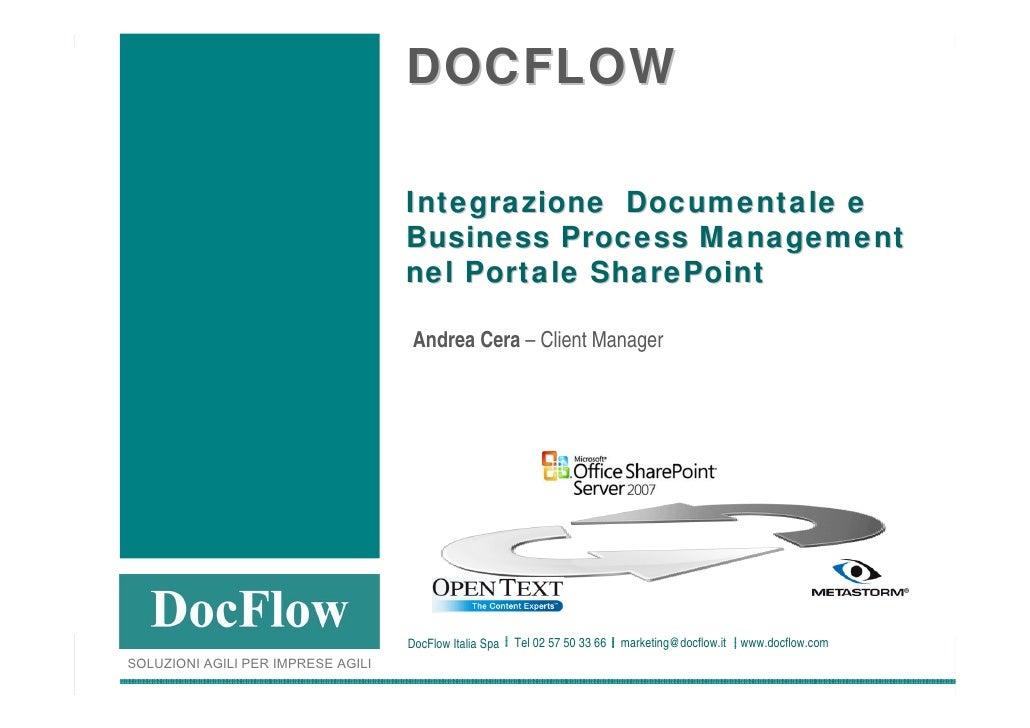 DOCFLOW                                                                        Integrazione Documentale e                 ...