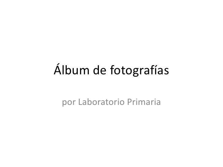 Álbum de fotografías<br />por Laboratorio Primaria<br />
