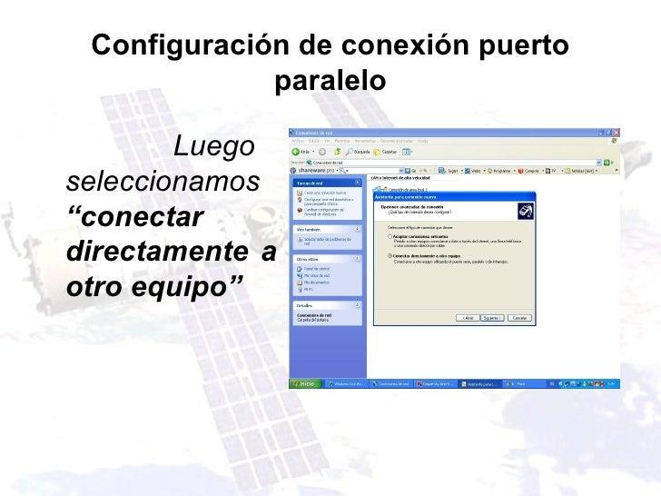 Configuraci n de conexi n puerto paralelo - Puerto de conexion remota ...