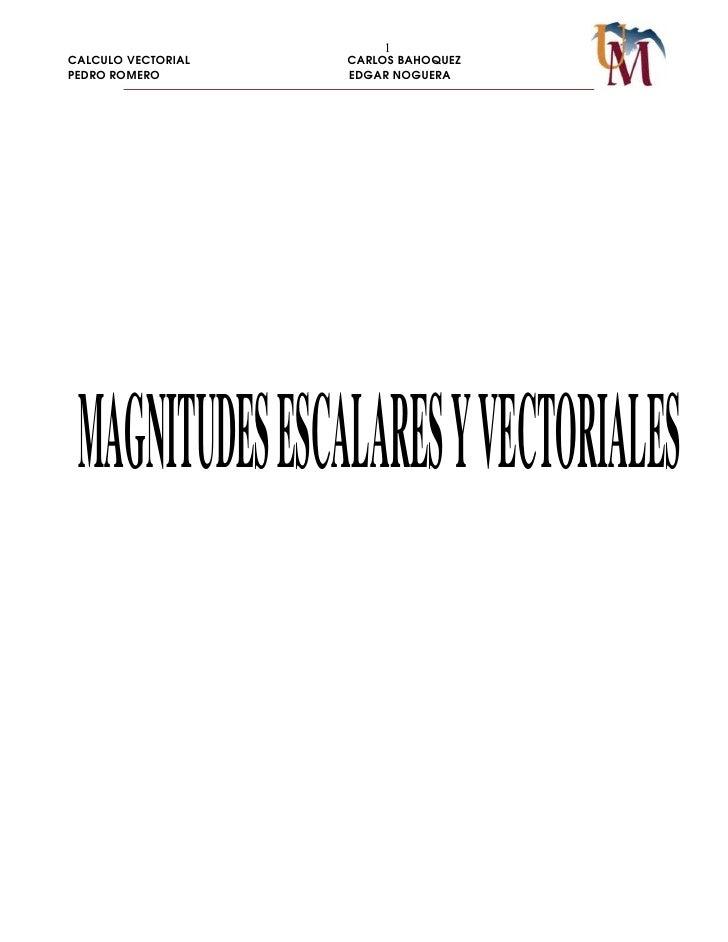 6. MAGNITUD EN VECTORES Y ESCALARES