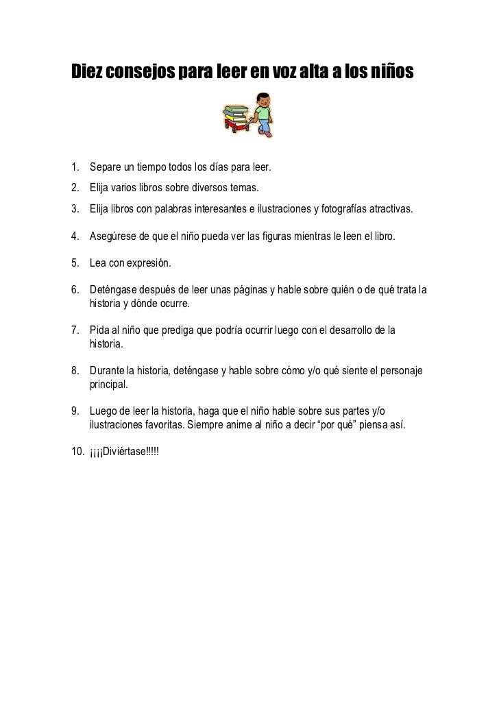 Diez consejos para leer en voz alta a los niños<br />2282190140335<br />1.    Separe un tiempo todos los días para leer.<b...