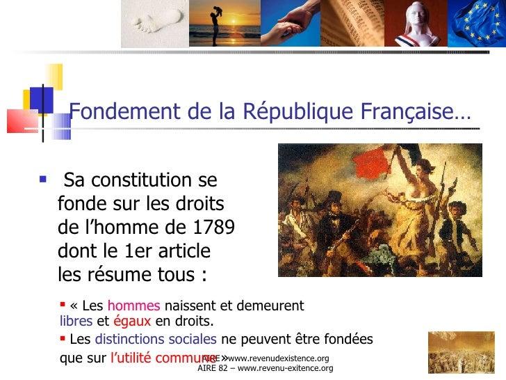 INSTAURER UN REVENU D'EXISTENCE INCONDITIONNEL ET EGAL POUR TOUS Slide 2