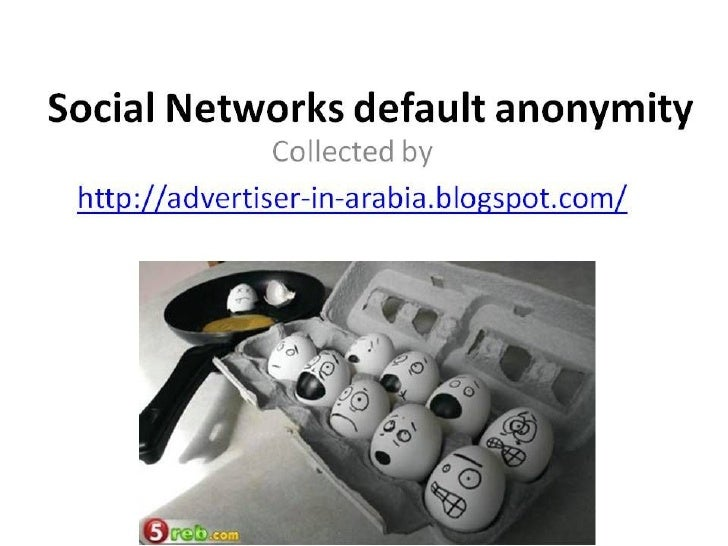 Social Networks default anonymity