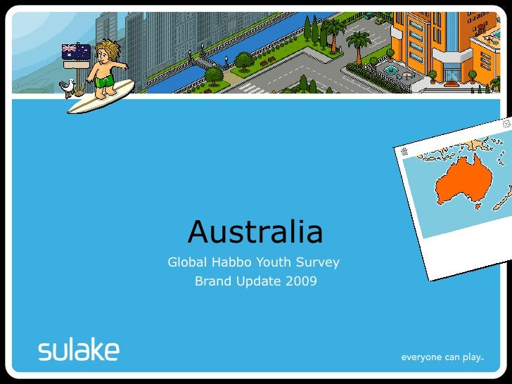 Australia Global Habbo Youth Survey  Brand Update 2009 Firstname Surname – Sulake Corporation Oy