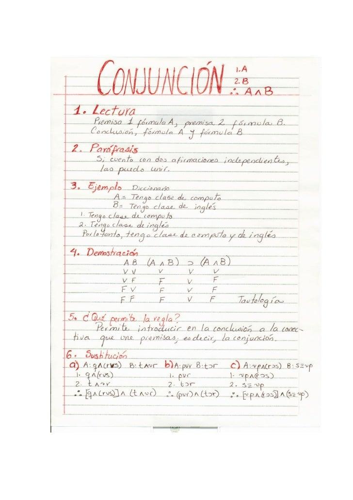 Ejemplo de una Secuencia de ejercicios para aprender reglas lógicas (Conjunción)