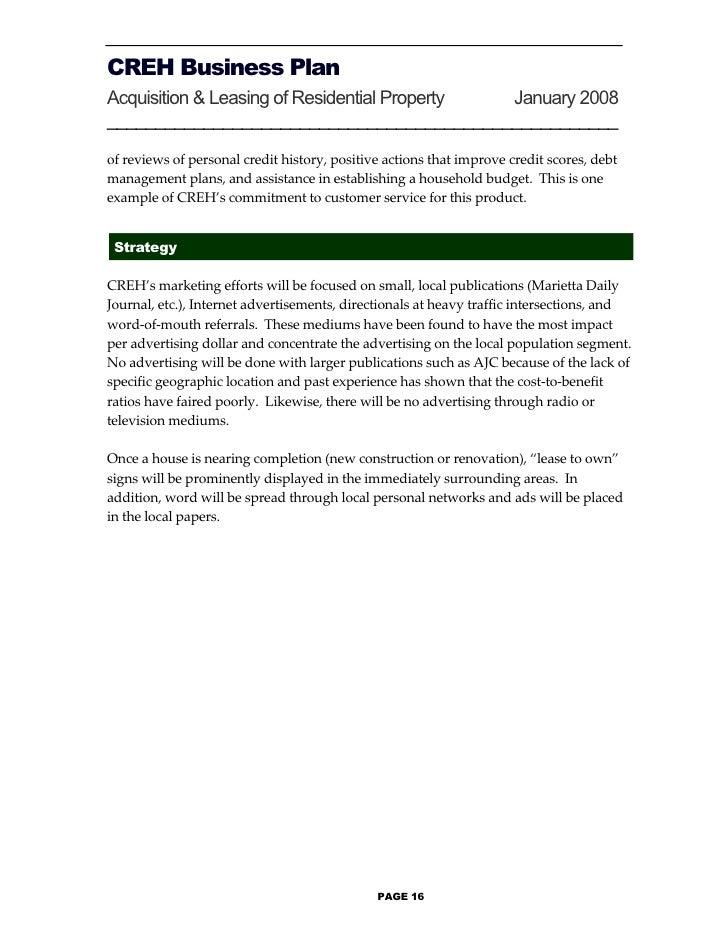 Business plan form page 15 17 creh business plan maxwellsz