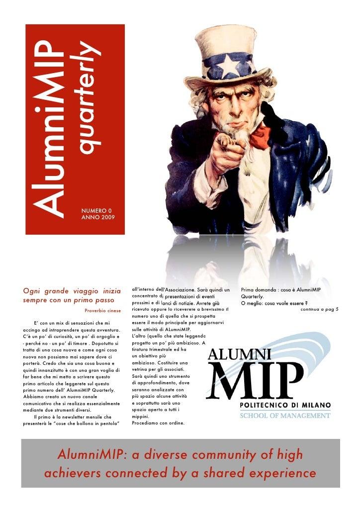 AlumniMIP                   quarterly                               NUMERO 0                            ANNO 2009     Ogni...