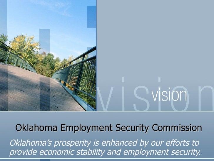 Www oklahomaemploymentsecuritycommission