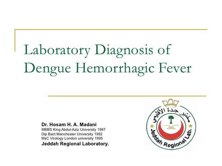 dengue fever blood test report pdf
