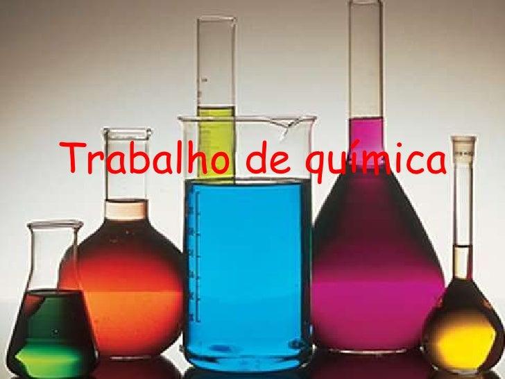 Trabalho de química