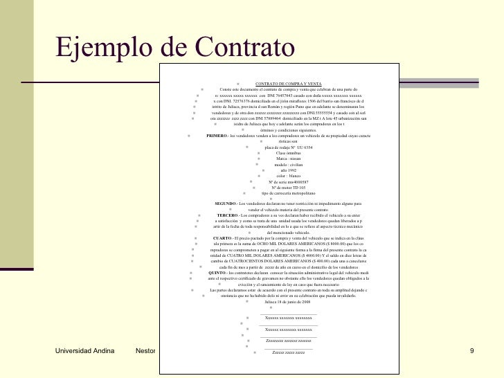 El contrato for Contrato documento