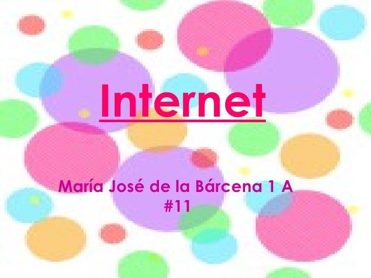 Internet María José de la Bárcena 1 A  #11
