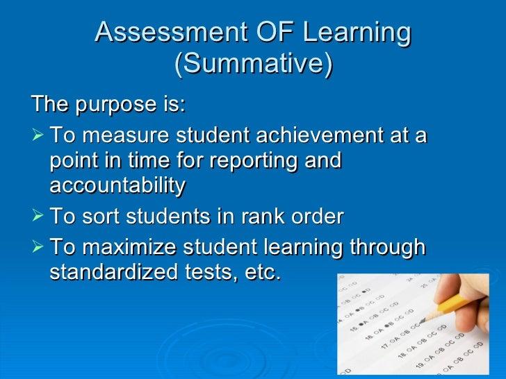 Formative Assessment Vs Summative Assessment