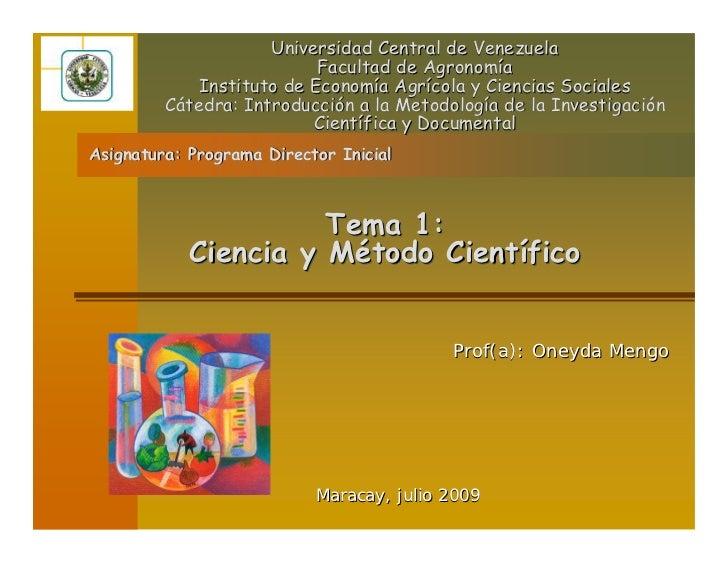 Universidad Central de Venezuela                            Facultad de Agronomía              Instituto de Economía Agríc...