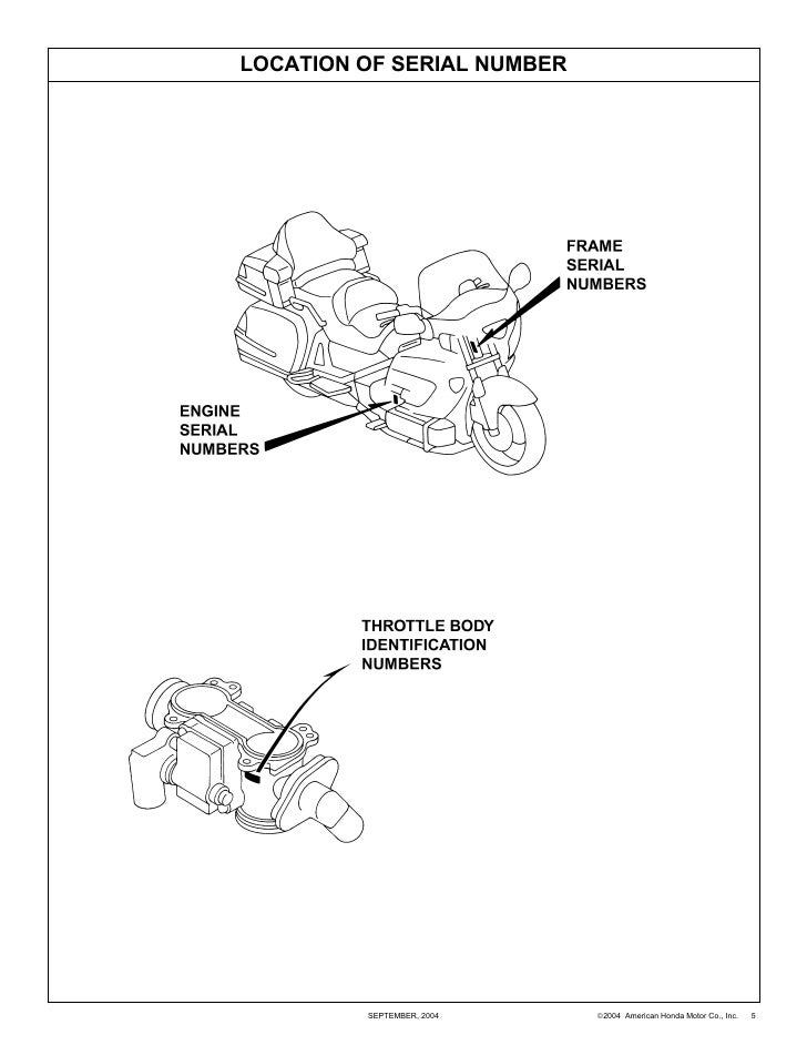 Goldwing 1800 Parts Manual