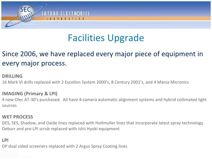 Facilities Upgrade Since 2006, we have replaced every major piece of equipment in every major process. DRILLING 16 Mark VI...