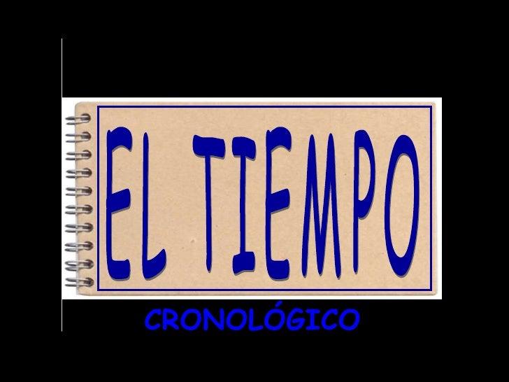 CRONOLÓGICO EL TIEMPO