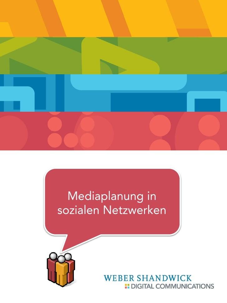 Mediaplanung in sozialen Netzwerken          September 2010