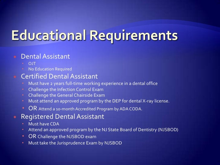 Dental Assisting Education
