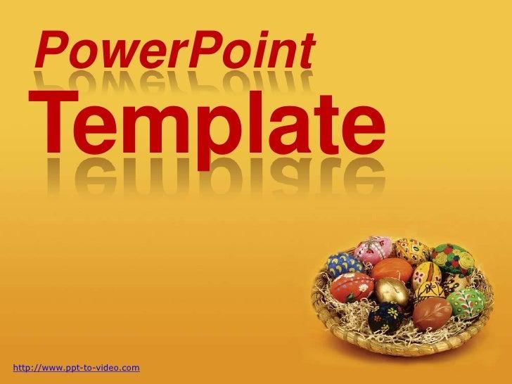 Free easter powerpoint template free easter powerpoint template powerpoint template httpppt to video toneelgroepblik Image collections