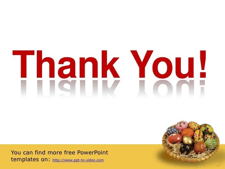 Free easter powerpoint template acoolsoft 4 toneelgroepblik Image collections