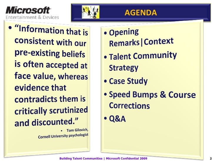 Microsoft Building Talent Communities Slide 2