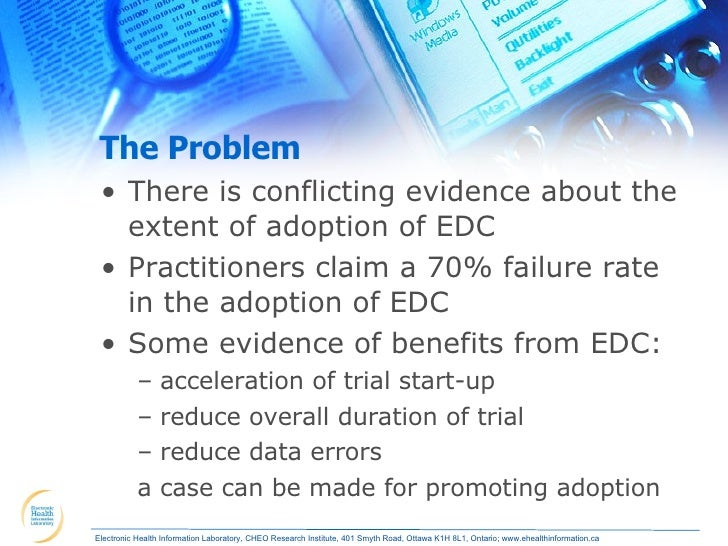 clinical trials from paper to edc Electronic source data in clinical investigations   an ecrf is an edc system used by a clinical site to collect data on study subjects  see who handbook for good clinical research practice.