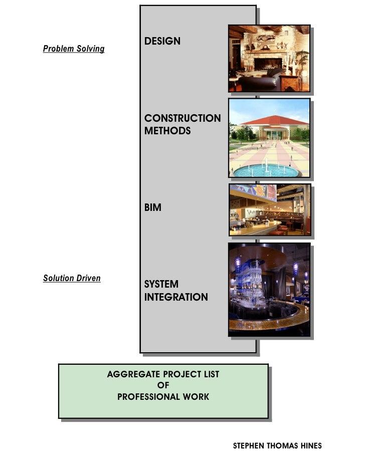 DESIGN Problem Solving                              CONSTRUCTION                          METHODS                         ...