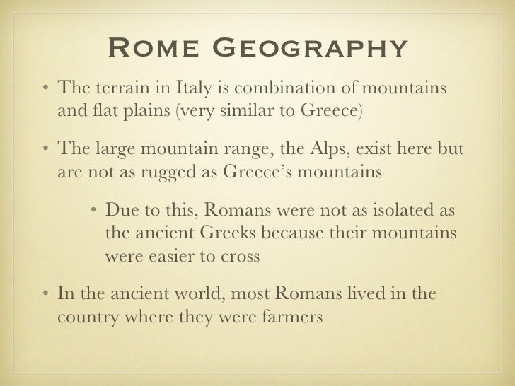 compare and contrast between greece and italy Compare and contrast the greeks and the romans history essay print reference this north africa and the middle east began as a farming community in italy.