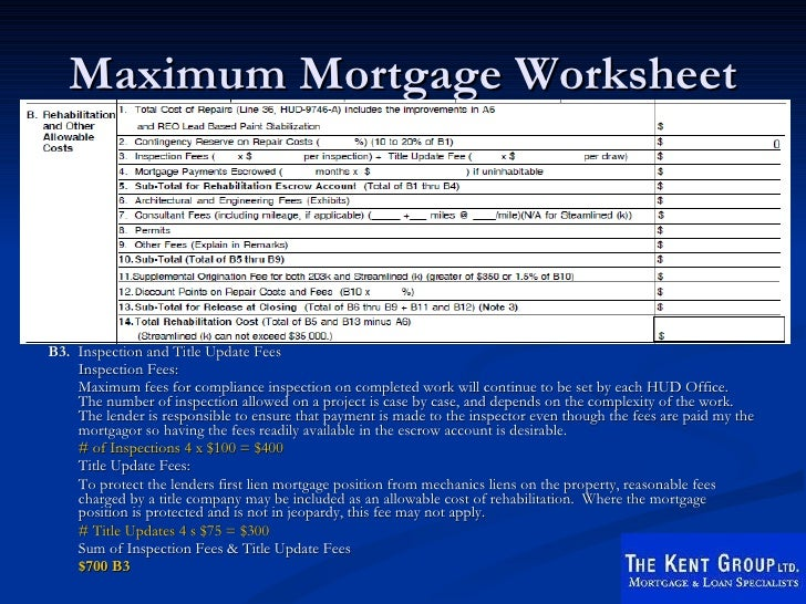 Printables Fha Streamline Worksheet fha 203k rehab seminar 36 maximum mortgage worksheet