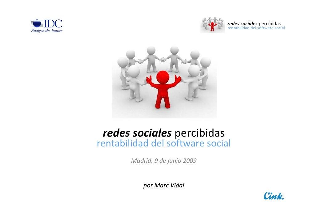 redessociales percibidas                                   rentabilidaddelsoftwaresocial      redessociales percibida...