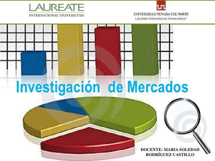 Investigación de Mercados                     DOCENTE: MARIA SOLEDAD                     RODRÍGUEZ CASTILLO
