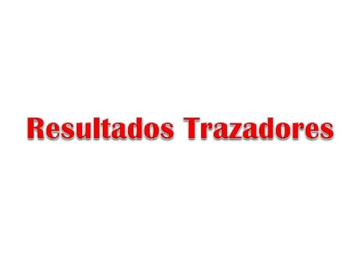 Resultados Trazadores<br />