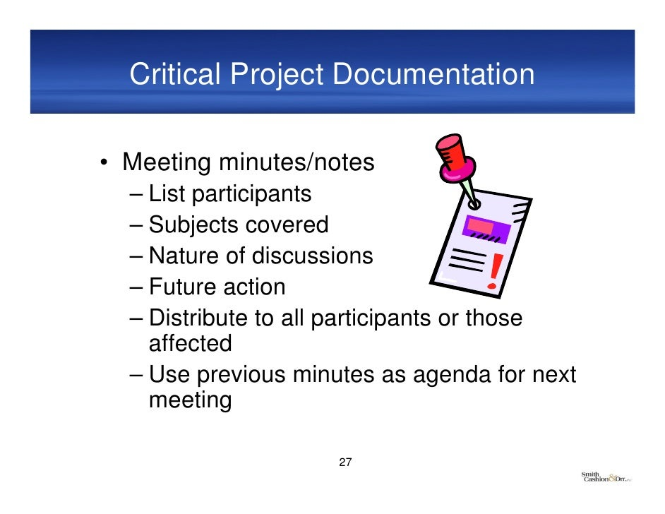 documenting meeting minutes