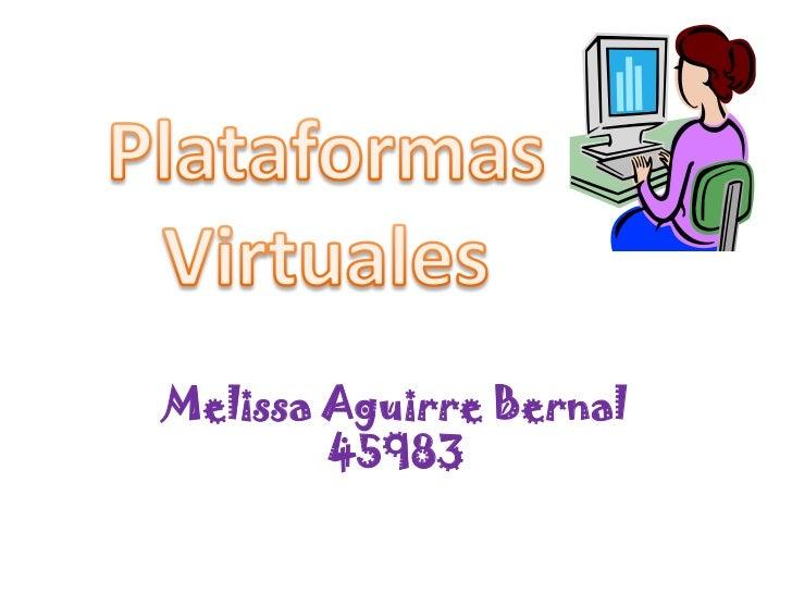 Melissa Aguirre Bernal         45983