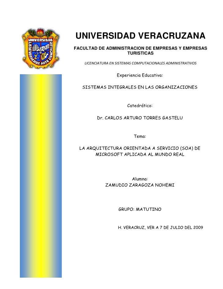 UNIVERSIDAD VERACRUZANAFACULTAD DE ADMINISTRACION DE EMPRESAS Y EMPRESAS TURISTICASLICENCIATURA EN SISTEMAS COMPUTACIONALE...