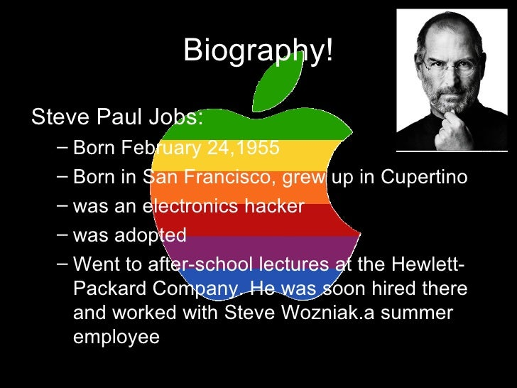narrative essay about steve jobs View notes - eng 1102 steve jobs obiturary essay from english 1102 at savannah state willis khelsea b willis english 1102 the steve jobs steven paul jobs departed the earth on october 5.