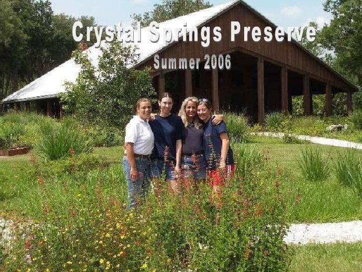 Crystal Springs Preserve Summer 2006