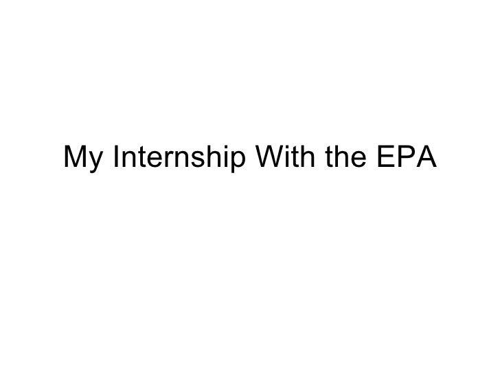 My Internship With the EPA