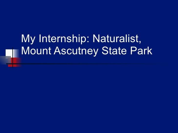 My Internship: Naturalist, Mount Ascutney State Park