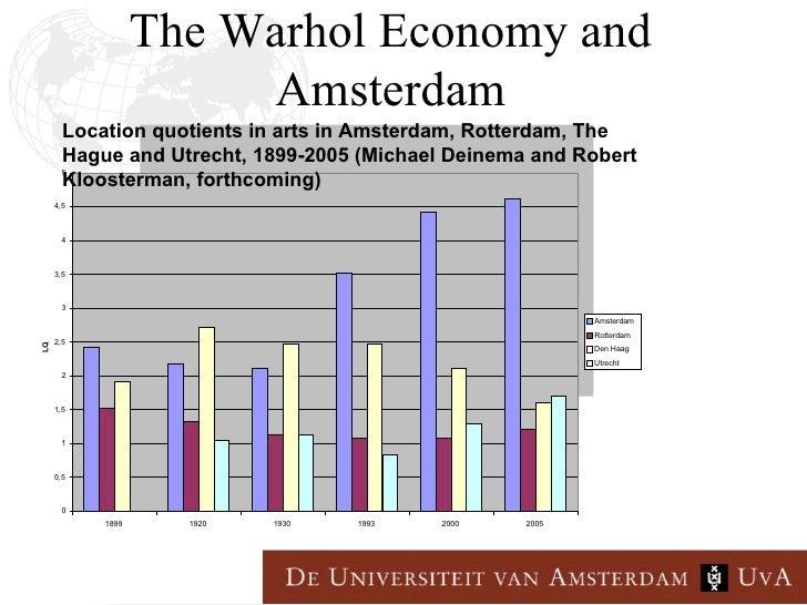 The warhol economy and amsterdam door robert kloosterman for Amsterdam economica