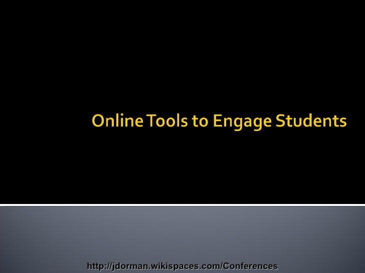 http://jdorman.wikispaces.com/Conferences