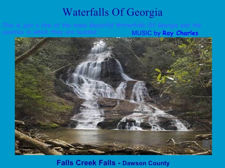 Waterfalls Of Georgia Falls Creek Falls -  Dawson County This is just a few of the many Beautiful Waterfalls Of Georgia an...