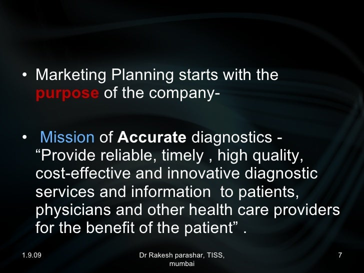 marketing of a diagnostic centre, medical lab, clinical lab