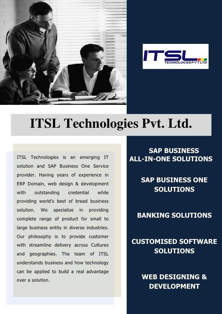 ITSL Technologies Pvt. Ltd.                                                       SAP BUSINESS ITSL Technologies is an eme...