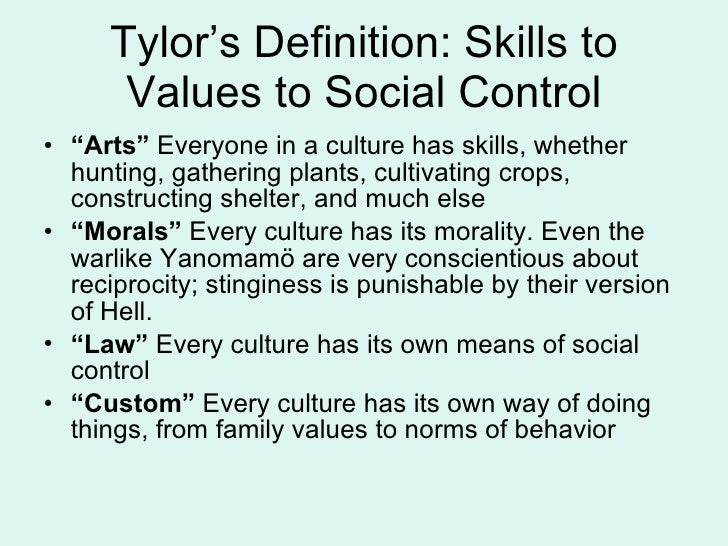 Defining culture 4 tylors definition malvernweather Images