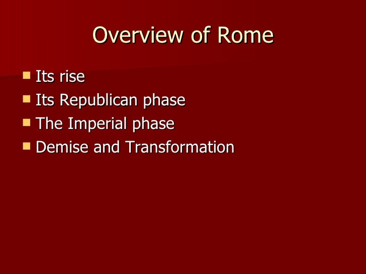 rise and fall of republican rome Chronology of events leading to the fall of the republic and rise of the empire.