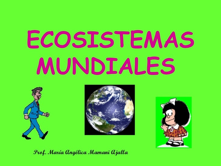 ECOSISTEMAS MUNDIALES Prof. María Angélica Mamani Ajalla